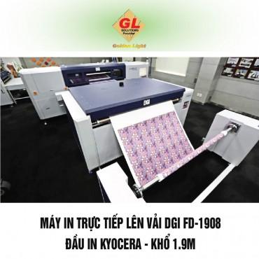 Máy in trực tiếp lên vải DGI FD-1908 Hàn Quốc - Đầu in Kyocera