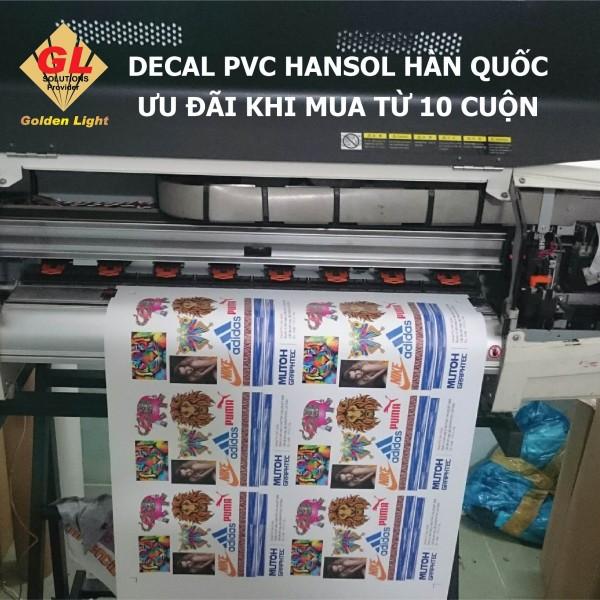 Decal PVC Hansol Hàn Quốc - Chống nhiễm màu - Bản in đẹp - Bền bỉ - Không lo thiếu hàng
